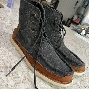 Toms Leather Detail Boots - Size 10
